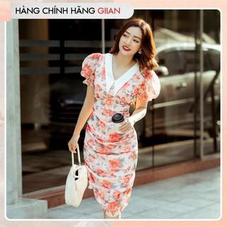 Giian - Đầm hoa body, váy tay bồng nhún hônh cổ đức sang trọng - Maretta Dress - thiết kế chính hãng - V2252 thumbnail