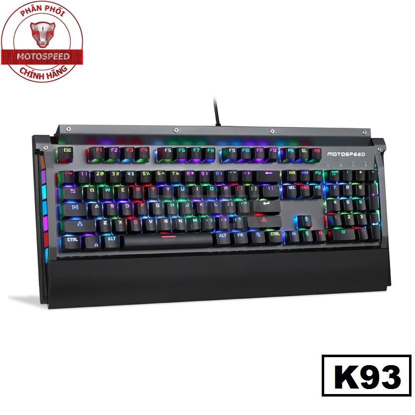 Bàn phím giả cơ Motospeed K93 LED Gaming Keyboard - BH 1 năm chính hãng