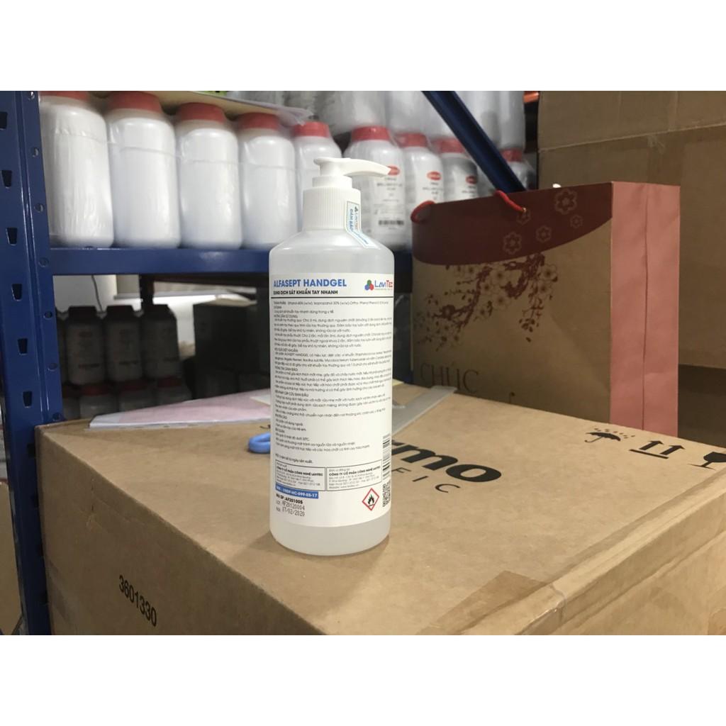[Có sẵn] Thùng 12 chai Gel rửa tay khô sát khuẩn Alfasept Handgel 500ml
