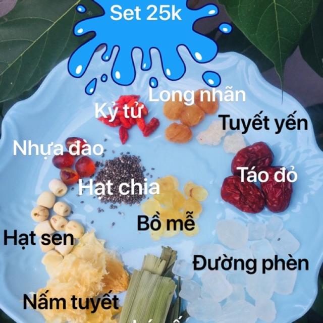 Set chè dưỡng nhan 10 nguyên liệu(3-4 người ăn)