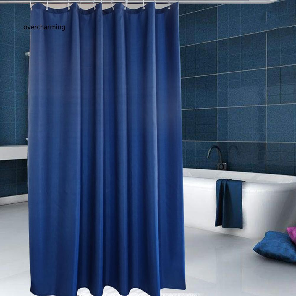 J_Solid Color Moldproof Waterproof Bath Thickening Shower Curtain Bathroom