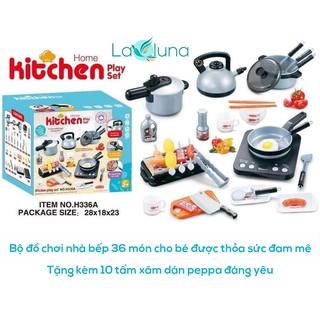 [ Tặng kèm 10t xăm dán peppa ] Đồ chơi nhà bếp 36 món cho bé tập tành tự nấu ăn theo cách riêng của mình