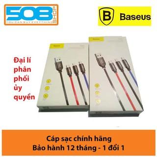 Cáp sạc BASEUS 3 đầu Lightning – MicroUSB – Type-C sạc nhanh 3.5A