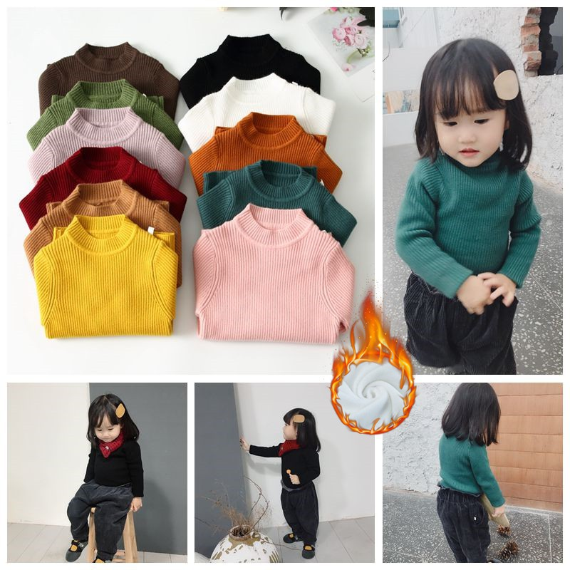 Áo len tăm cổ cao giữ nhiệt cho bé trai và bé gái (HN 358)