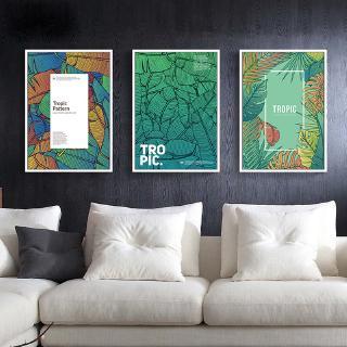 Tranh Treo Tường Hình Chiếc Lá Nhiều Màu Sắc Trang Trí Phòng Khách