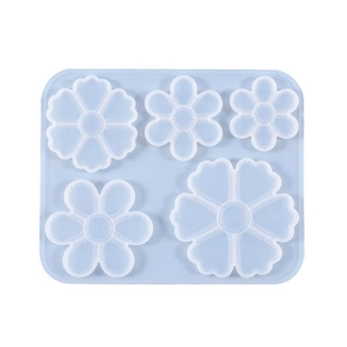 Silicon Flower Mold DIY Resin Epoxy Flower Pendant Jewelry Accessories Craft