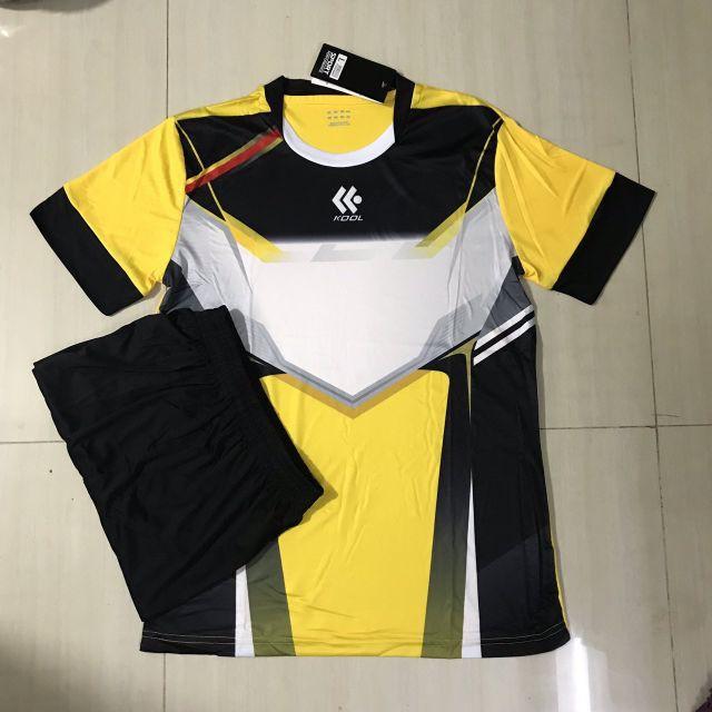 [ Thun thái ] Áo bóng đá không logo vàng KL15 ( bộ quần áo đá bóng thiết kế , bộ quần áo thể thao KL ) Bao giá tốt
