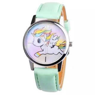 Đồng hồ đeo tay cho bé gái hình ngựa 1 sừng dây da cá tính BBShine – DH006