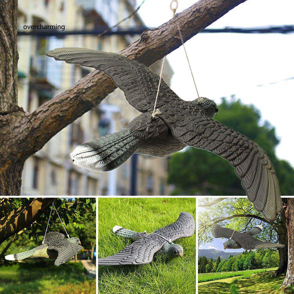 J_Realistic Flying Bird Hawk Pigeon Decoy Garden Pest Control Scarer Orn