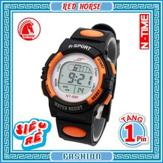 Đồng hồ điện tử trẻ em bé trai, bé gái NT-89F (Cam)