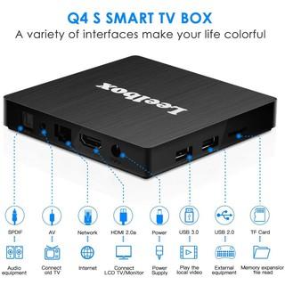 Android tivi box LEELBOX 4gb + 32gb + khiển chuột bay + giọng nói