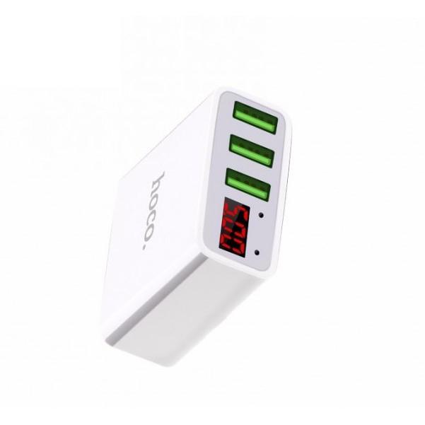 (Được chọn màu) Cốc sạc củ sạc 3 cổng USB chính hãng HOCO C15 có màn hình LED đo điện áp - 2900606 , 1213899009 , 322_1213899009 , 239000 , Duoc-chon-mau-Coc-sac-cu-sac-3-cong-USB-chinh-hang-HOCO-C15-co-man-hinh-LED-do-dien-ap-322_1213899009 , shopee.vn , (Được chọn màu) Cốc sạc củ sạc 3 cổng USB chính hãng HOCO C15 có màn hình LED đo điện