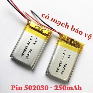 Pin li-po 502030 polymer 250mAh 3.7V cho hộp sạc dock sạc tai nghe Bluetooth /TWS tai nghe không dây