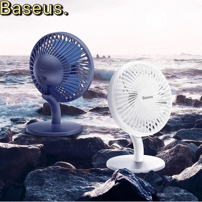 [Mã ELFLASH3 hoàn 10K xu đơn 20K] Quạt mini để bàn Baseus CX-02 chính hãng 4 tốc độ gió Chính hãng