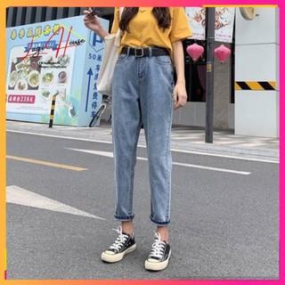 [Sale Sập Sàn] Quần Baggy Jean Nữ, Quần Jean Nữ Trơn, Form Đứng, Chất Siêu Đẹp, Mặc Siêu Thoải Mái, Siêu Đẹp