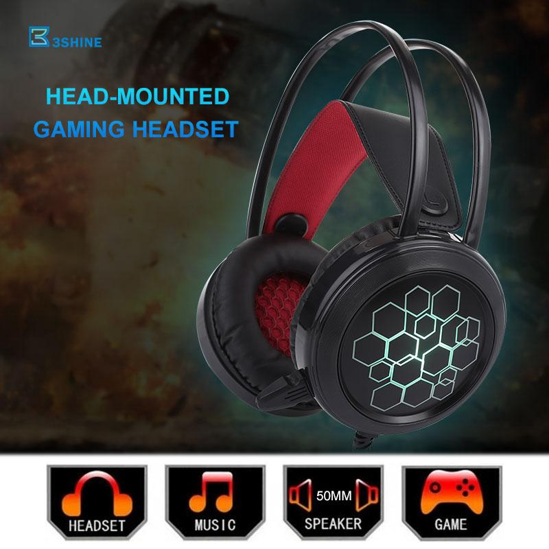 3se Gaming Headset Headphone 3.5mm Stereo Noise Reduction Ps4