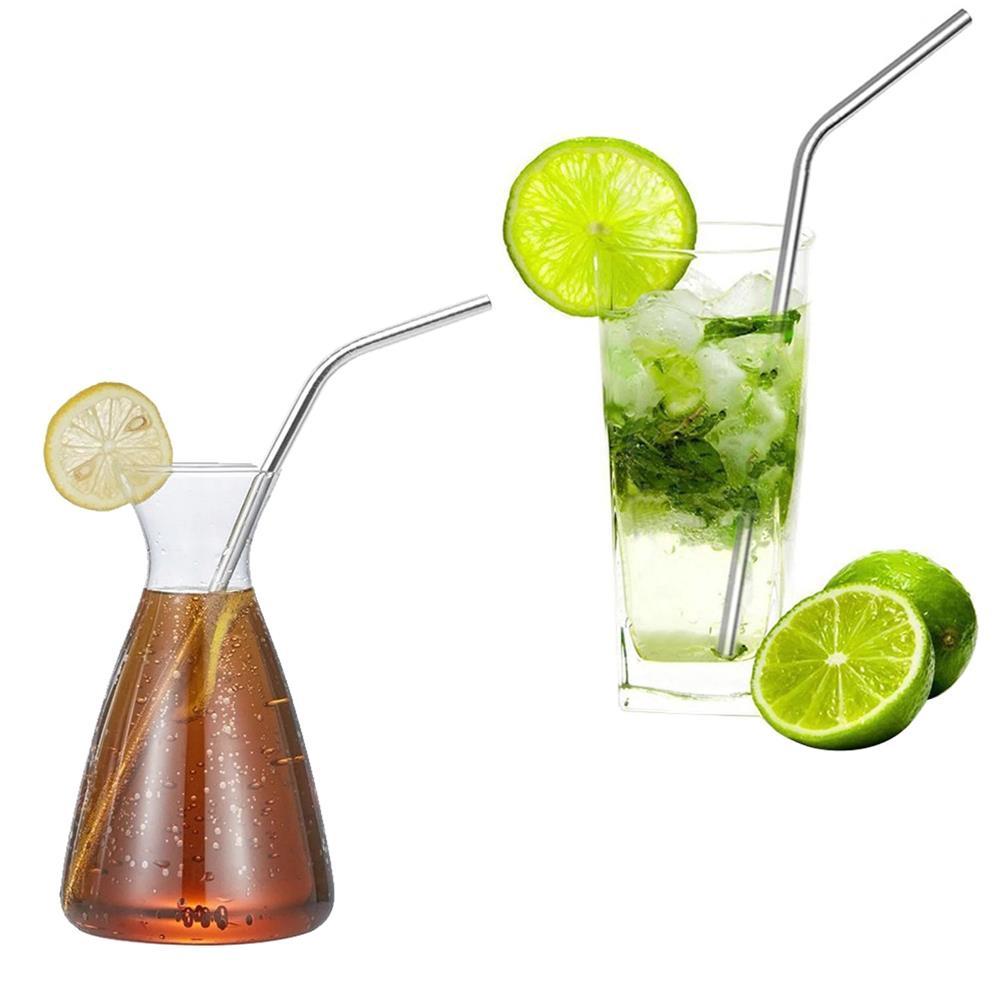 Bộ ống hút Inox (2 Ống hút+1 cọ rửa)dùng nhiều lần cho Bình Ly Cốc giữ cách nhiệt uống nước