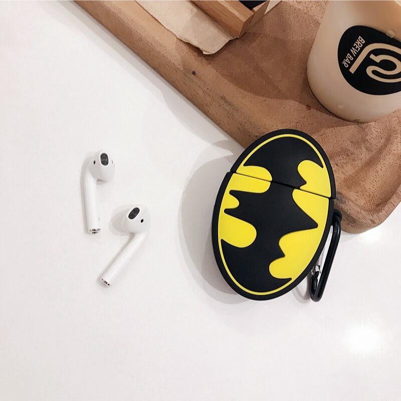 Case Airpods Batman, vỏ ốp đựng bảo vệ tai nghe bluetooth Airpod 1 2 Pro chất liệu silicon