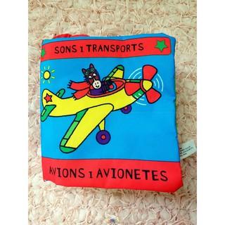 Sách vải chủ đề phương tiện giao thông có chữ tiếng anh