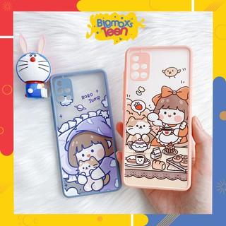 Ốp lưng xiaomi redmi note 8/ note 8 pro/ note 7/ note 9/ note 9s/ redmi 8/8A nhám mẫu Roro cat bảo vệ camera
