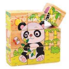 đồ chơi xếp hình 6 mặt 9 khối bằng gỗ