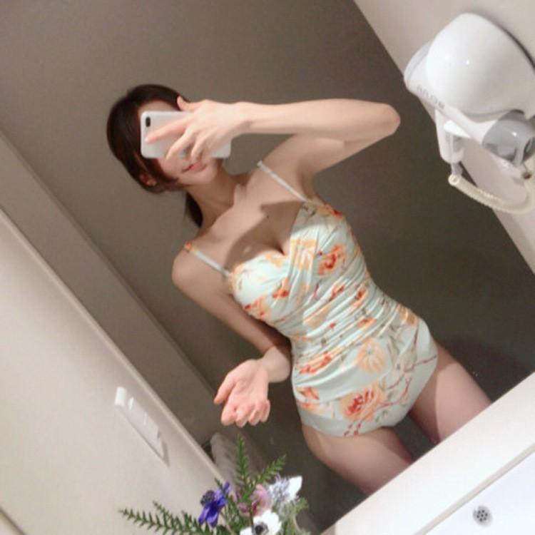 [Mã WAMT10K giảm 10k cho đơn 0k] Bikini monokini hoa nhí liền thân đồ bơi nữ gọng xoắn nâng ngực- Ảnh thật shop