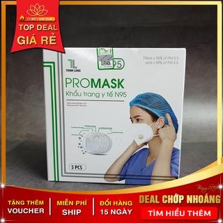 Khẩu Trang Y Tế 5 Lớp N95 PROMASK 5 lớp kháng khuẩn hộp 5 cái có van thở, Hàng dành cho tuyến đầu phòng dịch thumbnail
