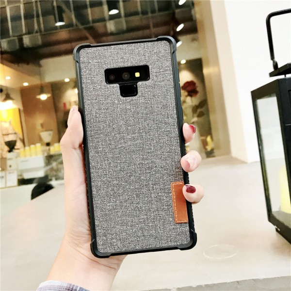 For Samsung note 9 Retro Stylish Linen Finish Phone Back Case PC+ TPU 2 in 1