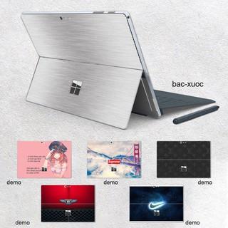Skin dán Aluminum Chrome bạc xước cho Surface Go, Pro 2, Pro 3, Pro 4, Pro 5, Pro 6, Pro 7, Pro X