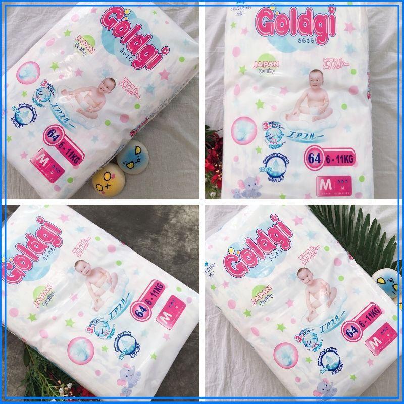 SALE OFF 36%_ Bỉm tả dán cho em bé Goldgi Nhật Bản size M (64 Cái/Túi)