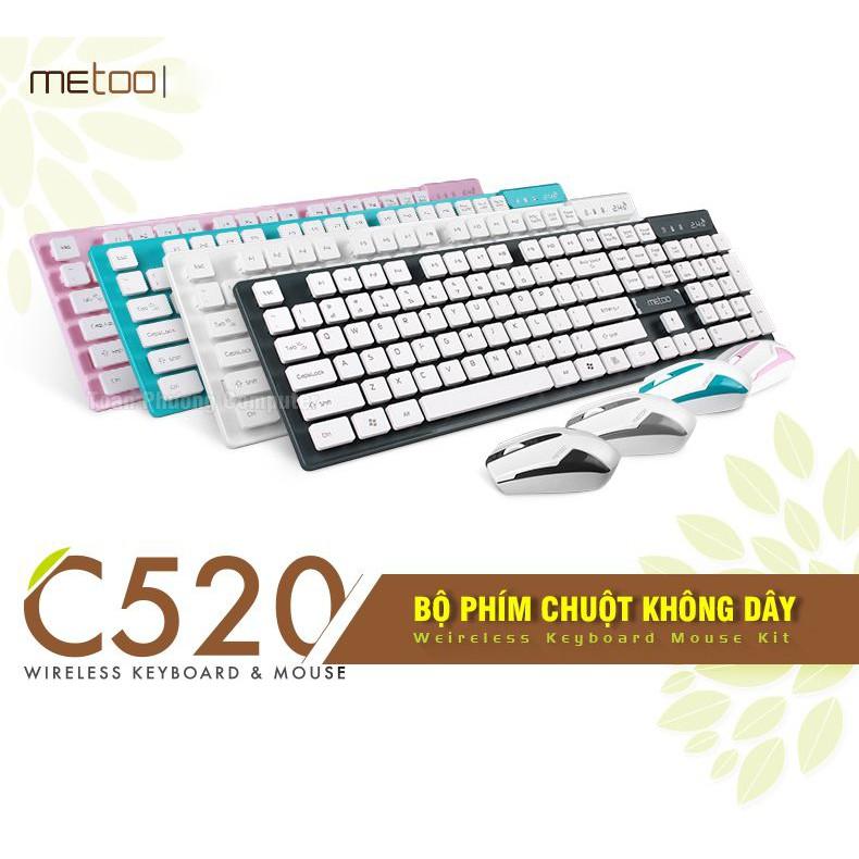 Combo Bàn phím chuột không dây Metoo C520 dùng cho máy tính, Smart Tivi - 2557110 , 1262826946 , 322_1262826946 , 320000 , Combo-Ban-phim-chuot-khong-day-Metoo-C520-dung-cho-may-tinh-Smart-Tivi-322_1262826946 , shopee.vn , Combo Bàn phím chuột không dây Metoo C520 dùng cho máy tính, Smart Tivi