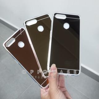Ốp OPPO F9, A3s, F7, F5 , A83 , A71 – Ốp tráng gương viền trong nhựa dẻo