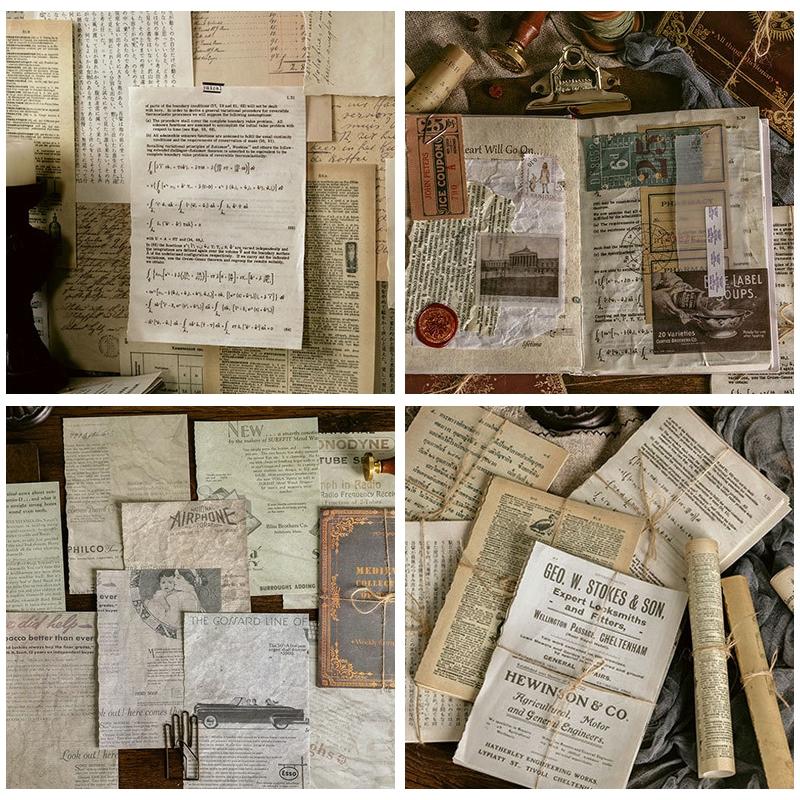 Set 10 Tấm Giấy Dán Trang Trí Phong Cách Vintage