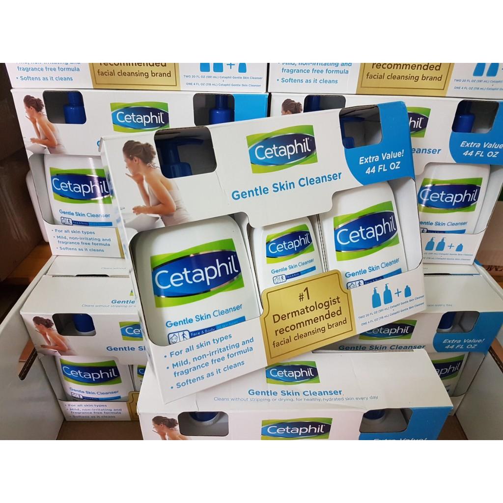 Set Sữa rửa mặt Cetaphil - 2 chai 591ml + 1 chai 150ml: Hàng Canada - 2528656 , 805132963 , 322_805132963 , 750000 , Set-Sua-rua-mat-Cetaphil-2-chai-591ml-1-chai-150ml-Hang-Canada-322_805132963 , shopee.vn , Set Sữa rửa mặt Cetaphil - 2 chai 591ml + 1 chai 150ml: Hàng Canada