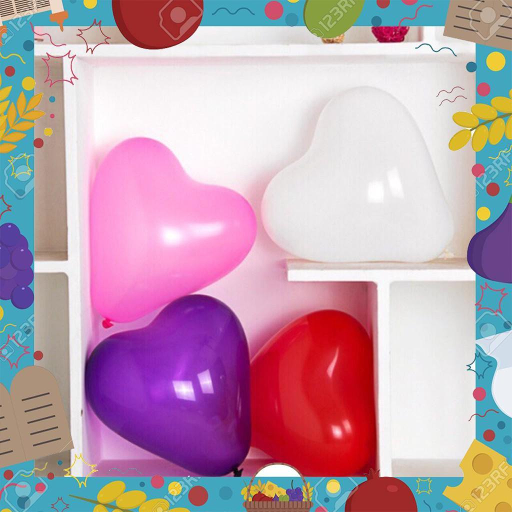 [Sale Giá Sốc] Sỉ 600 quả bóng bay trái tim loại dầy 1,5g - trang trí tiệc cưới - sinh nhật