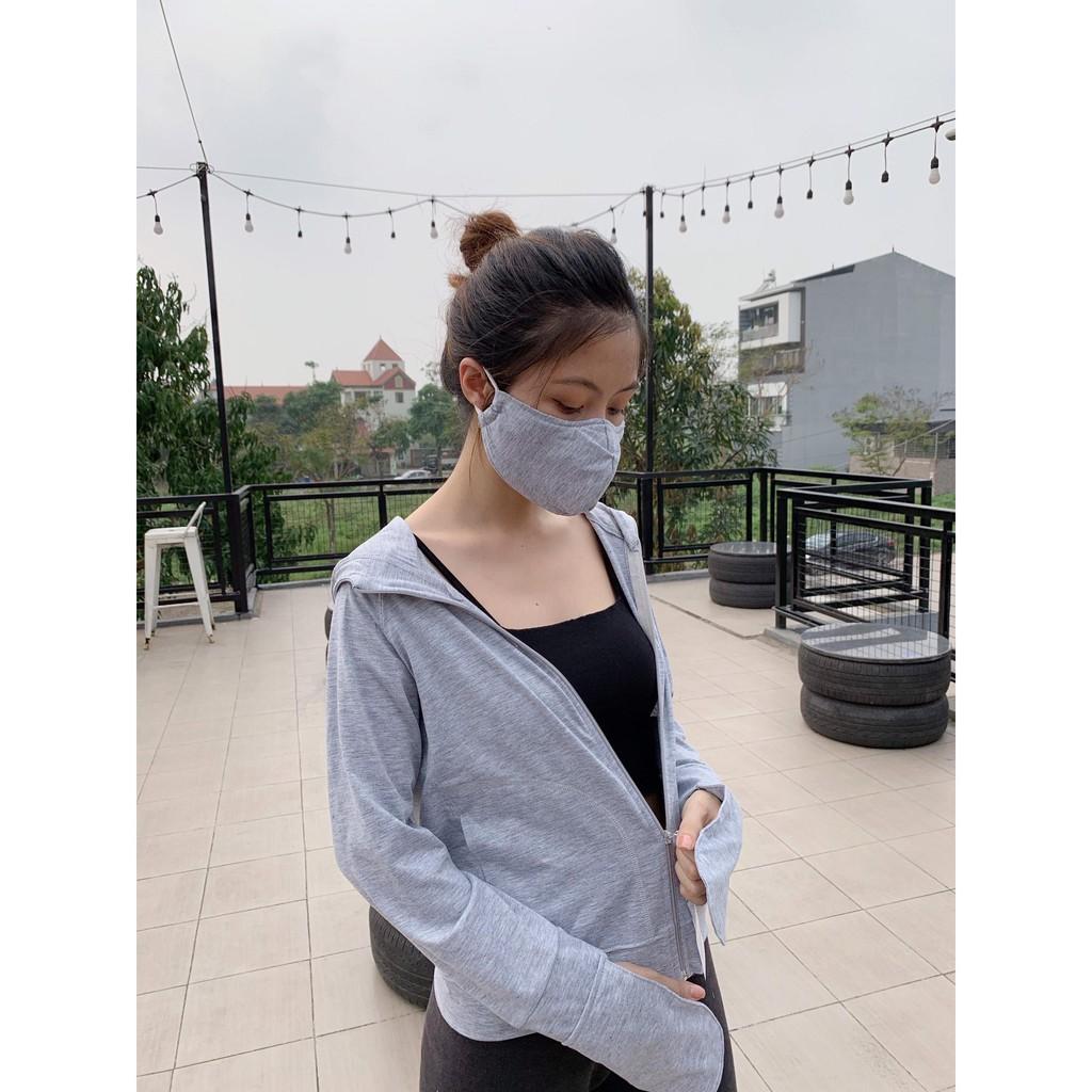 Áo chống nắng cotton TẶNG KÈM 2 KHẨU TRANG