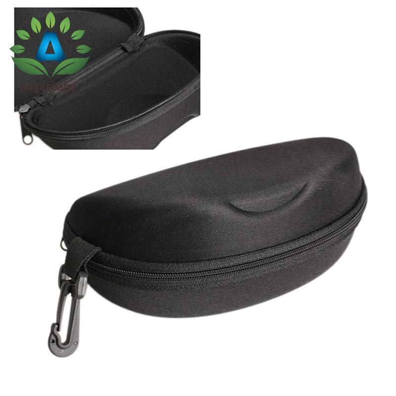 Zipper Sunglasses Hard Case Eye Glasses Protector Portable Container Box