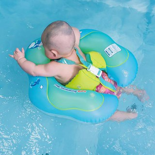 Baby Waist Inflatable Circle Pool Float with Backrest and Strap