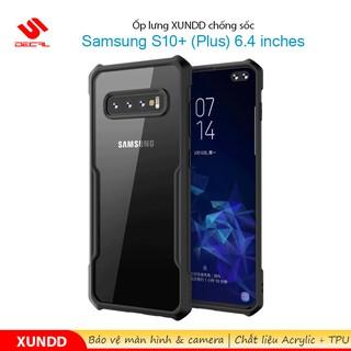 [Mã ELFLASH5 giảm 20K đơn 50K] Ốp lưng XUNDD Samsung S10+ ( Plus ) 6.4 inches, Mặt lưng trong suốt, Viền TPU, Chống sốc