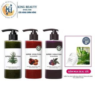 Sữa rửa mặt thải độc chiết xuất rau củ Wonder Bath Super Vegitoks Cleanser 300ml thumbnail