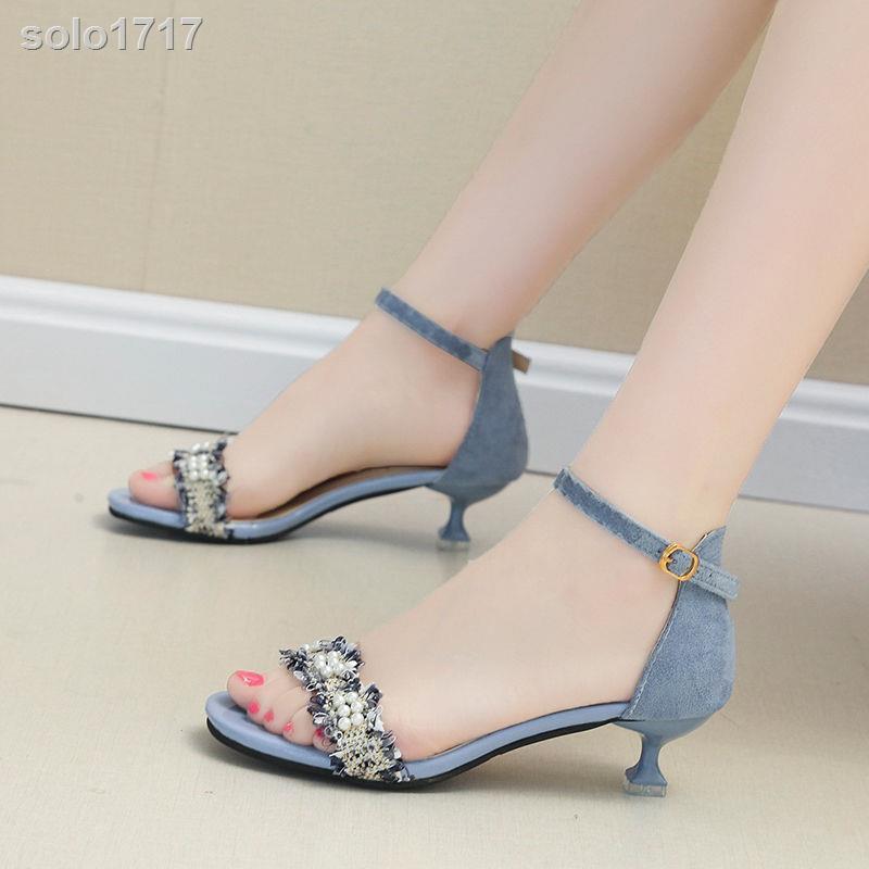 Giày Sandal Gót Vừa 3cm 20 Kiểu Dáng Trẻ Trung Thanh Lịch Dành Cho Nữ