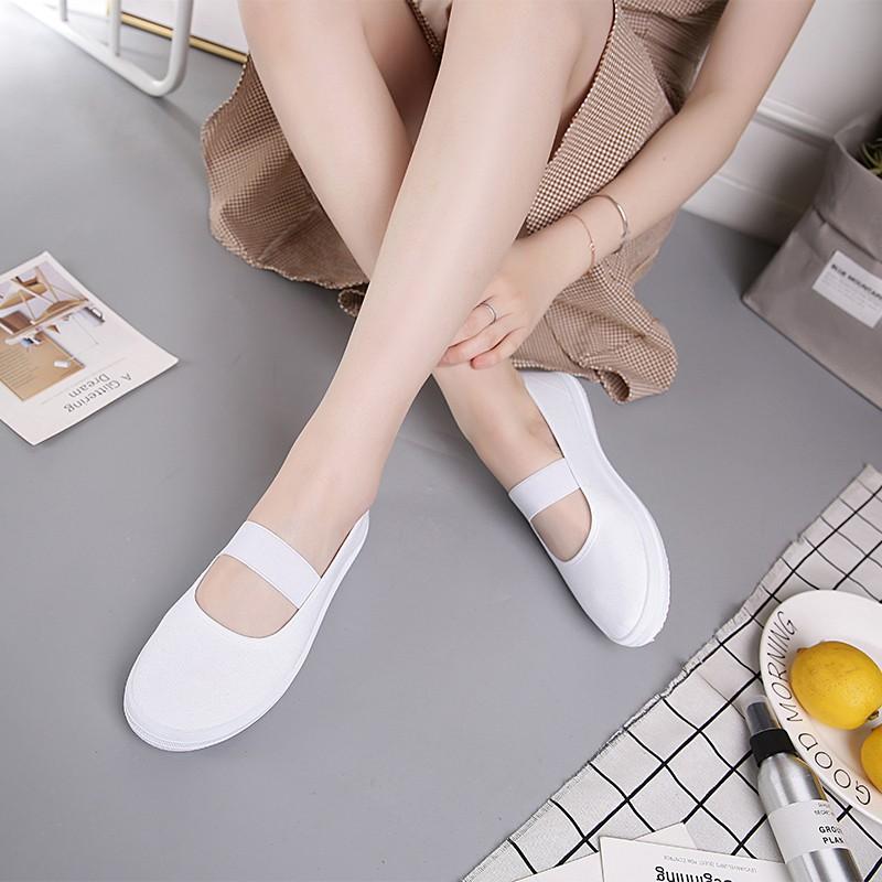 Giày bale trắng- Giày búp bê đế bằng- Giày y tá- Giày công sở- Giày nữ đế bằng