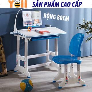 Bộ bàn ghế học sinh trẻ em thông minh chống gù chống cận kích thước lớn B05 52 x 80cm – Tặng kèm đèn LED 3 chế độ