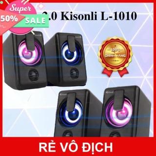 [GIÁ CỰC RẺ] Loa 2.0 Kisonli L-1010 LED RGB
