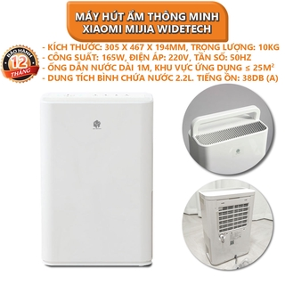 Máy hút ẩm thông minh Xiaomi Mijia WIDETECH 12L – Bảo hành 12 tháng