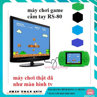 [Sẵn hàng] Máy chơi game cầm tay RS-80 với 280 trò chơi-Tặng kèm thẻ chơi game 20 in 1 thumbnail