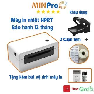 Máy in nhiệt chuyên dụng HPRT N41 in đơn hàng TMĐT kèm khay và 2 cuộn 2 tem 70 22mm Tặng Bút vệ sinh máy in thumbnail