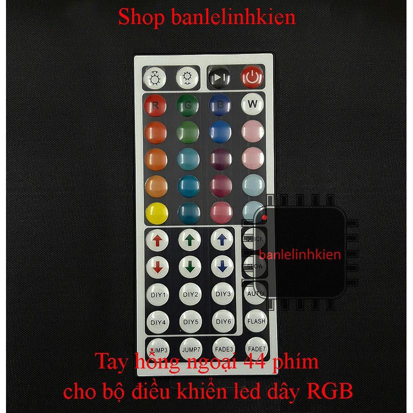 Tay điều khiển hồng ngoại 44 phím cho bộ điều khiển led dây RGB - 3102922 , 899044590 , 322_899044590 , 20000 , Tay-dieu-khien-hong-ngoai-44-phim-cho-bo-dieu-khien-led-day-RGB-322_899044590 , shopee.vn , Tay điều khiển hồng ngoại 44 phím cho bộ điều khiển led dây RGB