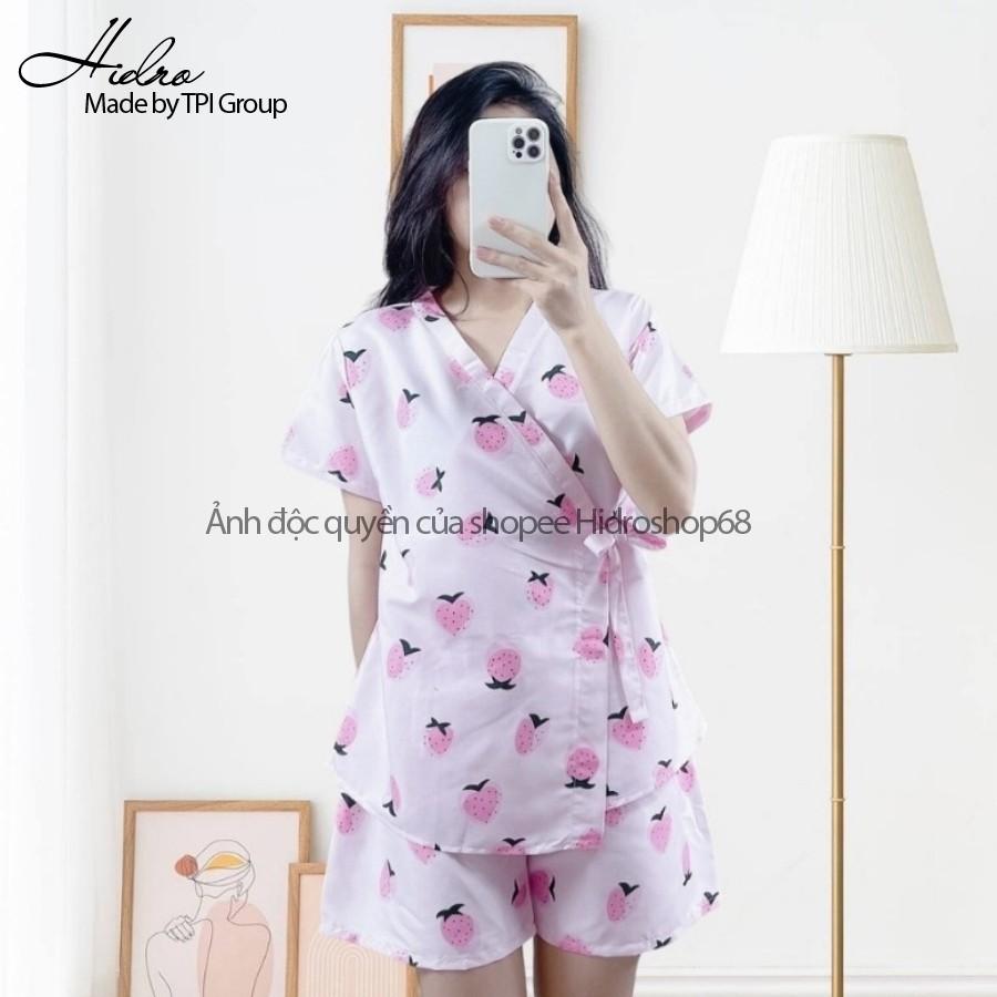 Mặc gì đẹp: Ngủ ngon hơn với [Mã 1510FASHIONSALE hoàn 10% xu đơn 99K] ] Bộ ngủ kimono ngắn siêu hot�❤️❤️