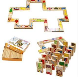 [AZ Store] Đồ chơi Domino gỗ nối tiếp 28 chi tiết cho bé [Shop Đồ Chơi AZ]